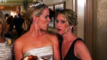 "The bride (Jessica St. Clair) is none too pleased to see her disinvited bridesmaid show up at ""The Wedding."""