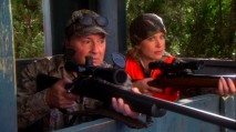 Hoping to sort out her daddy issues, Samantha joins her father (Kevin Dunn) on a hunting trip.