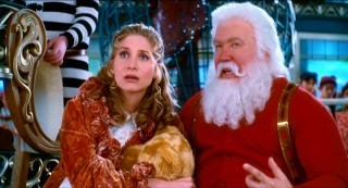 "In ""The Santa Clause 3: The Escape Clause"", Mrs. Claus (Elizabeth Mitchell) and her husband Santa (Tim Allen) are expecting their first child together."