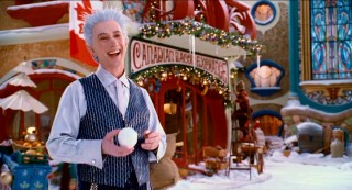 With a snowball in his hand, Jack Frost (Martin Short) schemes up some cool plans in a North Pole that's dressed as a Canadian toy factory.