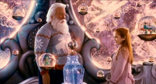 """Uncle Scott"" takes Lucy (Liliana Mumy) to the Hall of Snow Globes for some fun."