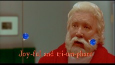 "In ""Christmas Carol-oke"", Scott Calvin's first moments with a grow-back beard from the original ""Santa Clause"" movie are married to ""O Come All Ye Faithful"" with bouncing ornament balls helping you sing along."