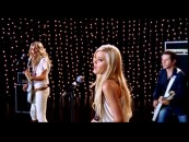 "Disney favorites the Michalka Sisters Aly (left) and AJ (center) perform their end credits tune ""Greatest Time of Year"" in the disc's lone music video."