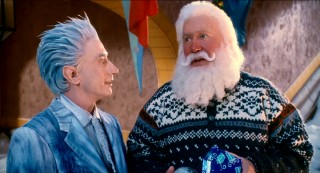 Pretending to lend a helpful ear to a troubled Santa, Jack Frost really has the Escape Clause on his mind.