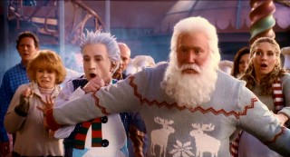 Santa shields pretty much the entire leading adult cast from a Frost-tailored disaster.