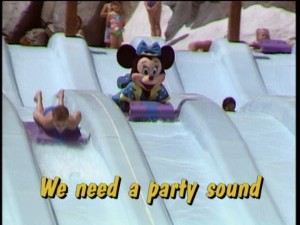 """Hot, Hot, Hot"" lacks the vocals of Buster Poindexter, but it makes up for it with footage of anthropomorphic rodents watersliding."