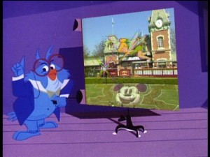 "Professor Owl introduces the Happiest Place on Earth in ""Disneyland Fun."""