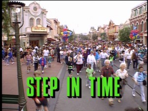 Disneyland's guests do not appear to be stepping in time, but racing through Main Street U.S.A.