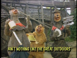 You won't find the Country Bears at Disneyland anymore, but if they still looked like this, I don't think many would lament their absence.