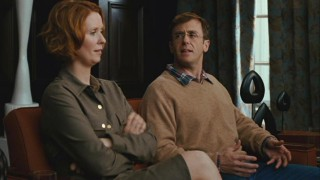 Miranda (Cynthia Nixon) and Steve (David Eigenberg) discuss their differences while at a marriage counselor's office.