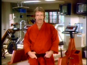 "Chuck Norris was holding his pants up all the way back in 1986, when he kindly took a break from working out to introduce and reflect upon the positive messages of ""Chuck Norris: Karate Kommandos."""