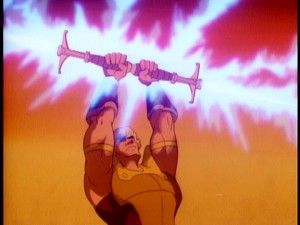 He-Man wasn't the only '80s blonde in possession of a powerful sword. Here, Galtar claims his golden lance.