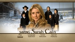 With a content smile on her face, Sarah Cain doesn't appear to need saving on her static main menu, even as five Amish kids surround her.