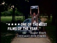 Roger Ebert's ringing four-star endorsement and John Cusack's boombox lift still have meaning in this 20-year-old TV spot.