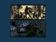 Check out the situation! Prince Phillip is attacked by goons in both storyboards and the final film.