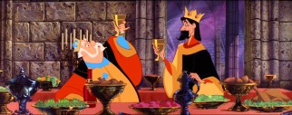 Skumps! King Hubert and King Stefan bond over drinking while discussing their children's arranged marriage.