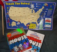 Here's a look at the fold-out Election Tracking Kit map found inside the case alongside the holographic slipcover and DVD keepcase. American flag definitely not included.