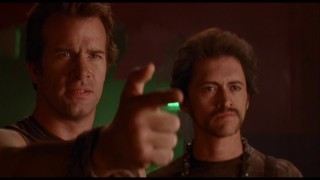 Uncredited vegan police officers Thomas Jane and Clifton Collins Jr. look less than suave in the blooper reel without their finger lasers added.