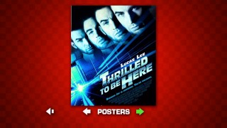 "With four floating heads, this poster for the fictional movie ""Thrilled to Be Here"" provides enough Lucas Lee (Chris Evans) for everyone."