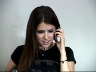 Not yet Academy Award-nominated actress Anna Kendrick wears a Batman shirt in her Casting Tape.