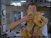 Dr. Cox finds comfort in a teddy bear in this deleted scene.