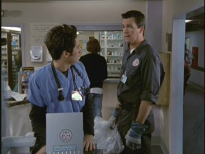 From day one, J.D. has a rocky relationship with the Janitor (played by Neil Flynn).
