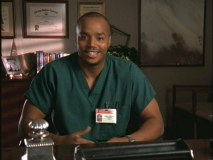 "Like the rest of the staff, Turk opens up his past for a psychologist's research project in the supersized episode ""My Bed Banter & Beyond."""