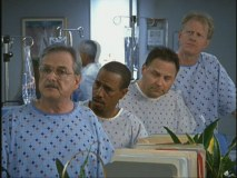 "William Daniels and other regulars of '80s medical drama ""St. Elsewhere"" show up in ""My Sacrificial Clam."""