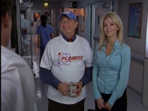 Bob Kelso is not opposed to promoting pharmaceutical companies, at least not when the sales rep is Julie Keaton (guest star Heather Locklear).