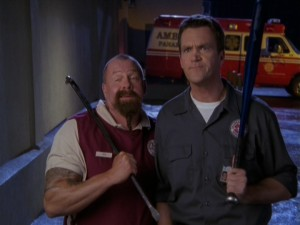 The Janitor and his lunchroom worker friend Troy have a riddle of their own in one of the season's funniest storylines.