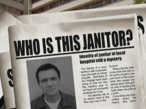 "Inquiring minds want to know! ""Who is That Man?"" poses questions regarding ""Scrubs""' mysterious janitor."