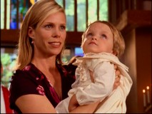 "Guest Cheryl Hines (""Curb Your Enthusiasm"") is Dr. Cox's sister and his son's godmother in ""My New God."""