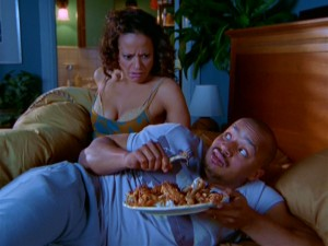 """Scrubs""' most-featured married couple, Carla (Judy Reyes) and Turk are still the source of some surprises, such as Buffalo wings in bed."