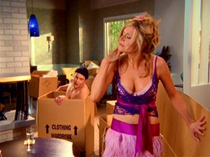Though it's occasionally given a serious moment, the relationship between Keith (Travis Schuldt) and Elliot (Sarah Chalke) is chiefly a source of jokes, many of which pertain to sexual role-playing.