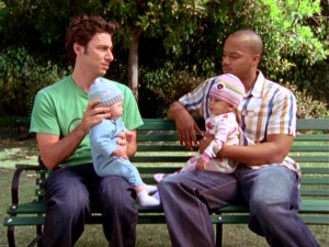 Being fathers to babies gives J.D. (Zach Braff) and Turk (Donald Faison) a new way to have fun. Who needs maturity anyway?
