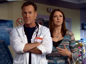 Perry Cox (John C. McGinley) and ex-wife Jordan (Christa Miller) are by far the most sarcastic and uncaring of the show's regularly-featured couples, which now number five.