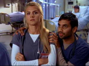 "The cold, frank Denise a.k.a. ""Jo"" (Eliza Coupe) and laid-back ""Big"" Ed (Aziz Ansari) are two of the interns ""Scrubs"" introduces in Season 8."