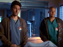 "Calling off Steak Night, J.D. and Turk comfort a patient in his dying moments in ""My Last Words."""