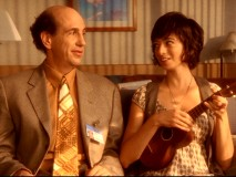 Ted (Sam Lloyd) finds a potential soulmate in hospital ukulele player Stephanie Gooch (Kate Micucci).