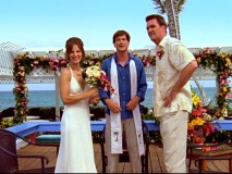 """Scrubs"" creator Bill Lawrence plays Justice of the Peace Van, who officiates the Bahamian wedding of Lady (Kit Pongetti) and the Janitor."