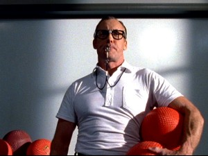 The teaching style of Dr. Cox (John C. McGinley) is likened to a hardass old-fashioned gym teacher in one of the season's rare fantasy sequences.