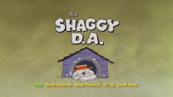 """The Shaggy D.A.""'s menus are modeled after the film's animated opening, sans Dean Jones' theme tune."