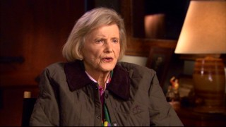 "At age 88, the real Penny Chenery, given an uncredited appearance in the film's closing moments, recalls her special horse in ""Heart of a Champion."""