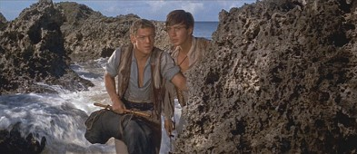 While they're still friends, Fritz and Ernst explore the island.