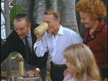 "Walt Disney and the Mills family in ""Lost Treasure: Swiss Family Treehouse"""