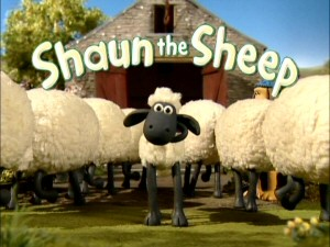 He's Shaun the Sheep. He's Shaun the Sheep. See his show here, puts me to sleep.