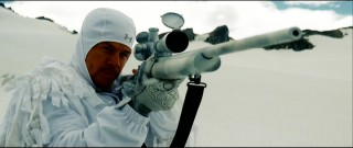 "Marky Mark strikes the pose you'd expect in a movie called ""Shooter."""