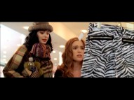 "Working in a clothing store makes Becky want to spend in the deleted scene ""Zebra Print Pants."""