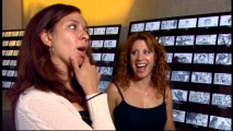 """Saturday Night Live"" ladies Maya Rudolph and Cheri Oteri have fun looking at storyboards of their 'Shrek 3' princess characters in ""Meet the Cast."""