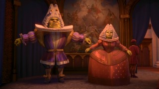 Shrek and Fiona aren't comfortable with royal formalwear.
